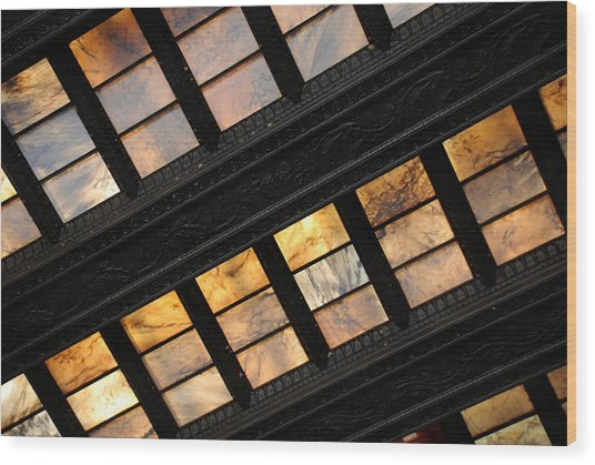 Lincoln Memorial Stained Glass Wood Print