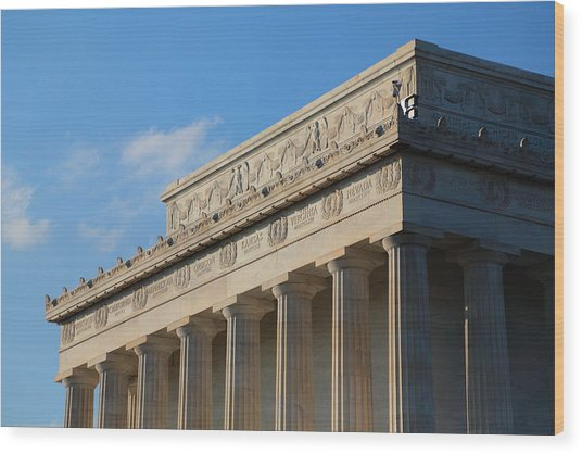 Lincoln Memorial - The Details Wood Print