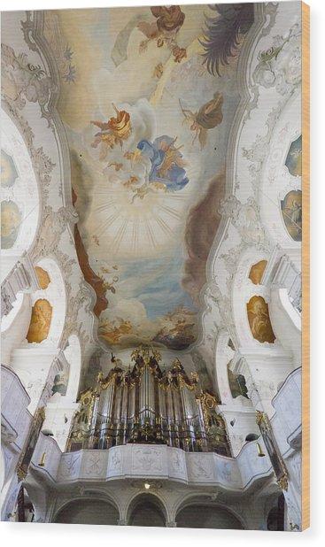 Lindau Organ And Ceiling Wood Print