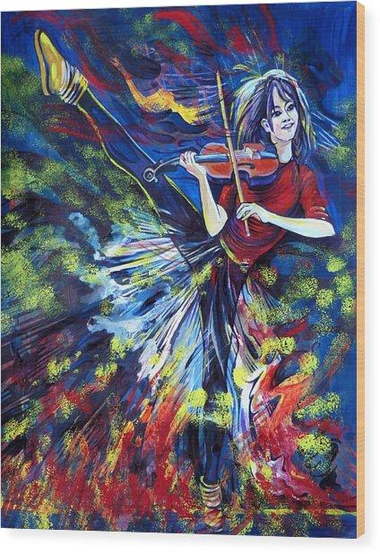 Lindsey Stirling. Dancing Violinist Wood Print
