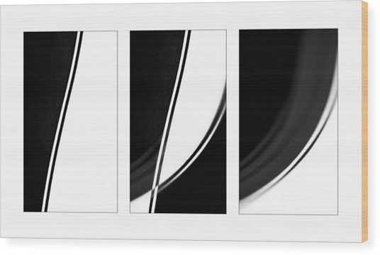 Lines And Curves In Black And White Wood Print by Natalie Kinnear