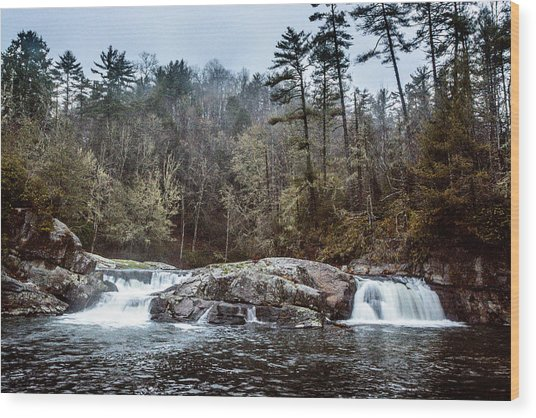 Linville Upper Falls Wood Print