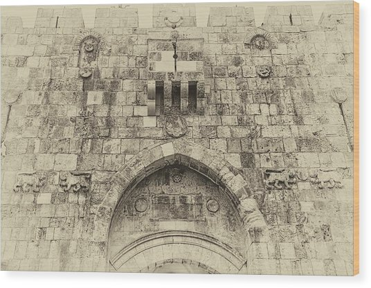Lion Gate Jerusalem Old City Israel Wood Print