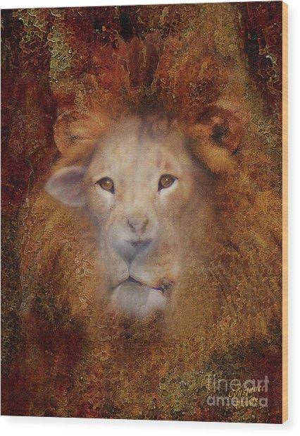 Lion Lamb Face Wood Print
