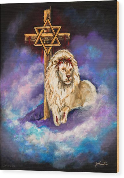 Lion Of Judah Original Painting Forsale Wood Print