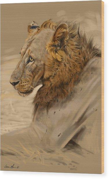 Lion Portrait Wood Print by Aaron Blaise