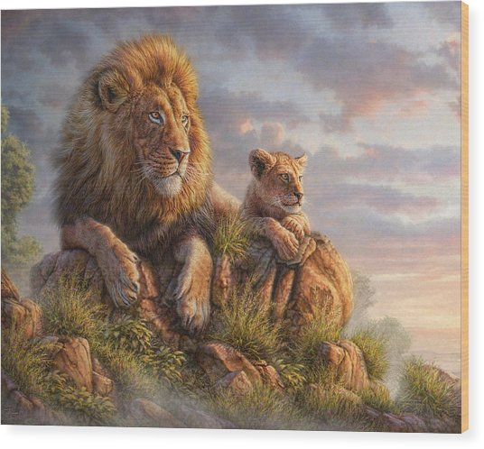 Lion Pride Wood Print