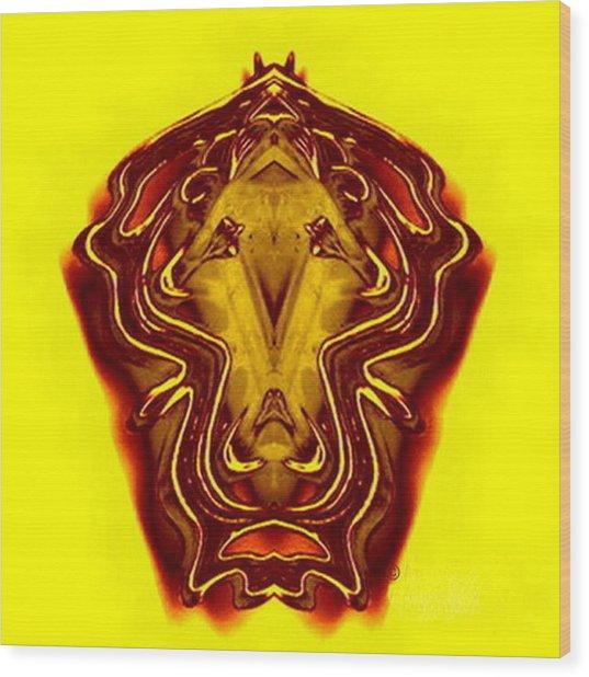 Lion Tall Wood Print