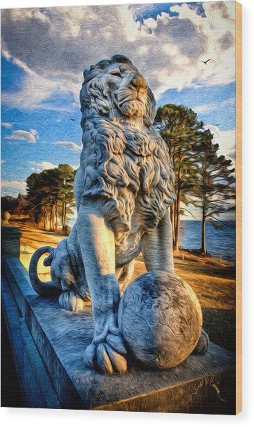 Lion's Bridge Wood Print by Williams-Cairns Photography LLC