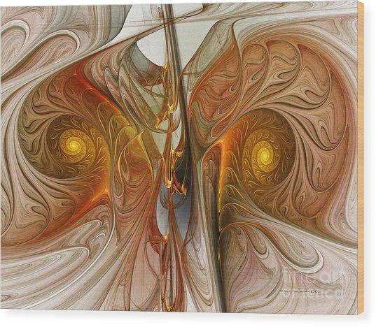 Liquid Crystal Spirals Wood Print