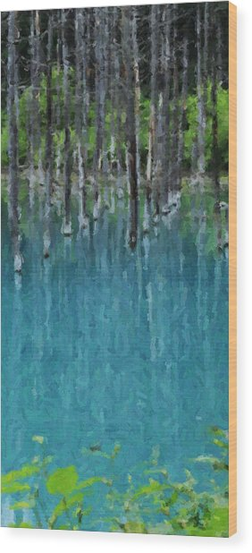 Liquid Forest Wood Print