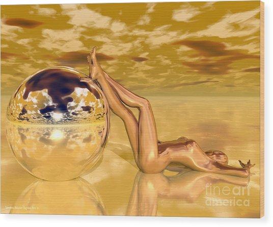 Liquid Gold Wood Print by Sandra Bauser Digital Art