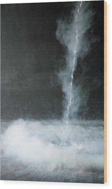 Liquid Nitrogen Being Poured Wood Print