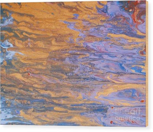 Liquid Summer Wood Print
