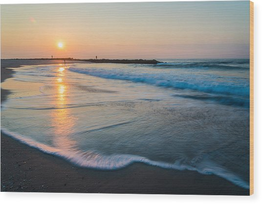 Liquid Sun Wood Print