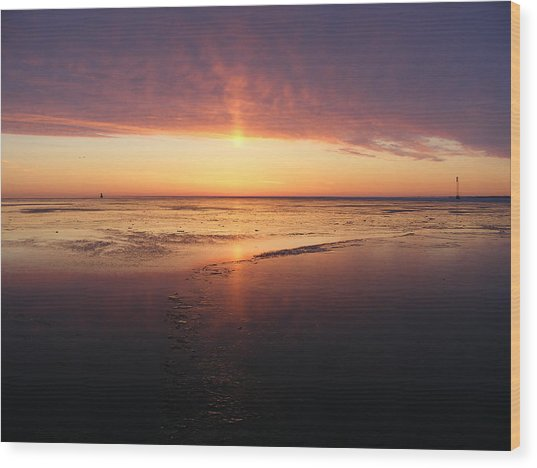 Liquid Sunrise Wood Print