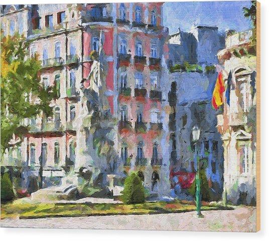 Lisbon Streets Wood Print by Yury Malkov