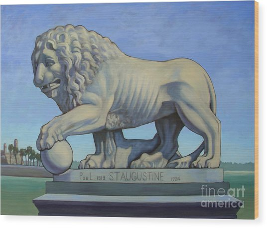 Listen To The Lion I Wood Print by Teri Tompkins