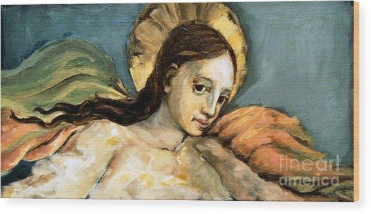 Listening Angel Wood Print