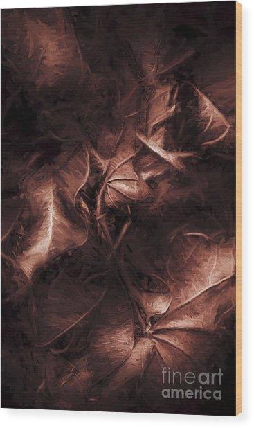 Litterfall In Autumn Wood Print