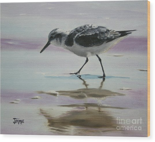 Little Beach Bird Wood Print