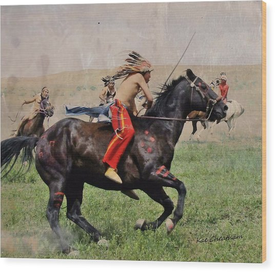 Little Bighorn Reenactment 1 Wood Print