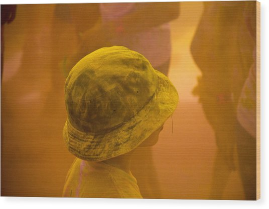 Wood Print featuring the photograph Little Boy Yellow by Debbie Cundy