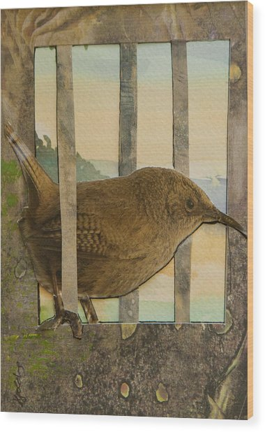 Little Brown Bird Wood Print