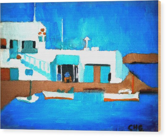 Paros  Cute Spot On Greek Island Wood Print