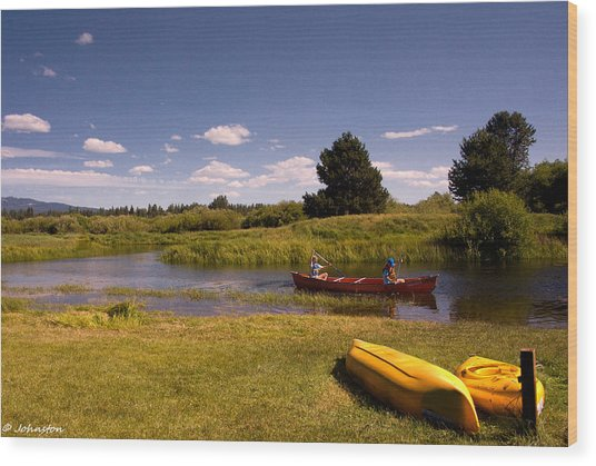 Little Deschutes River Bend Sunriver Thousand Trails Wood Print
