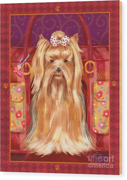 Little Dogs - Yorkshire Terrier Wood Print
