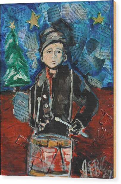 Little Drummer Boy 2009 Wood Print by Jon Baldwin  Art