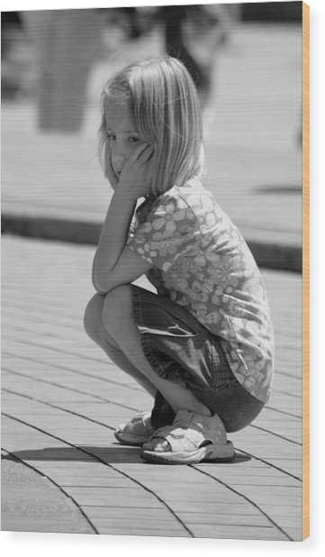 Wood Print featuring the photograph Little Girl by Mike Trueblood