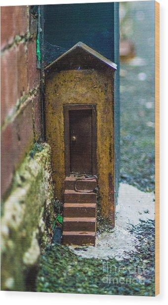 Little House Down The Lane  Wood Print