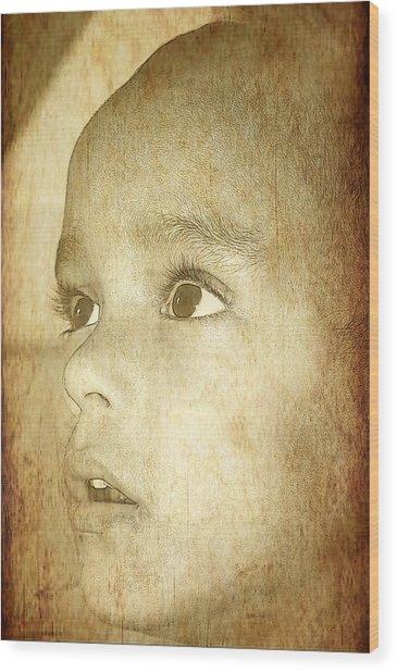 Little Innocent Wood Print