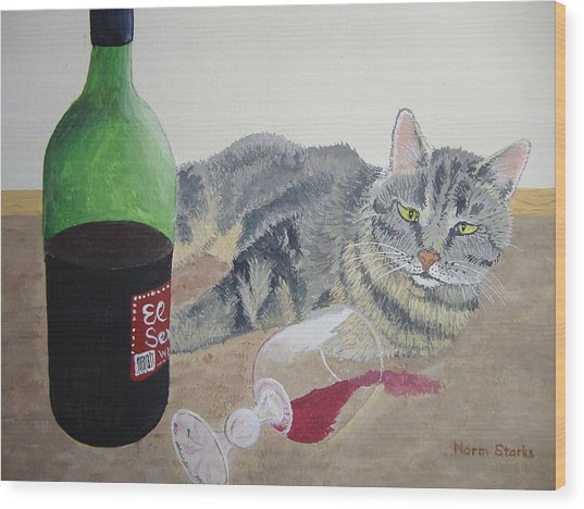 Little Ol' Wine Drinker Me Wood Print