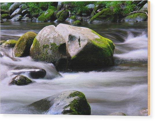 Little Piegon River Gatlinburg Tennessee Wood Print