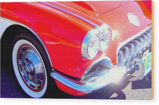 Little Red Corvette Wood Print