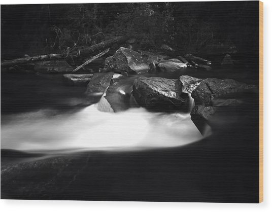 Little River Cauldron Wood Print