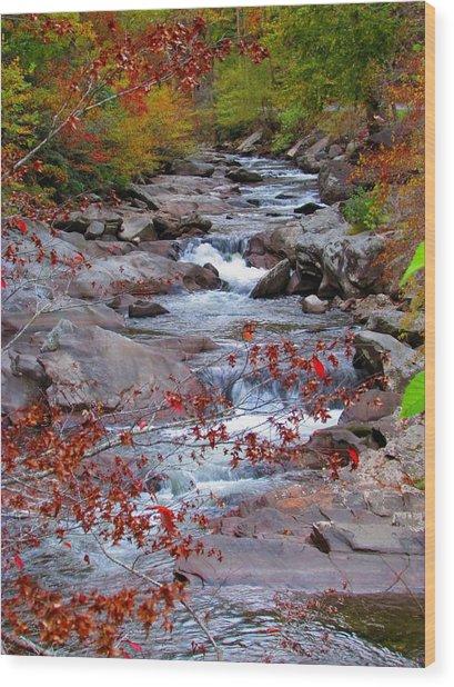 Little River Wood Print