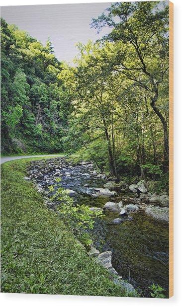 Little River Road Wood Print