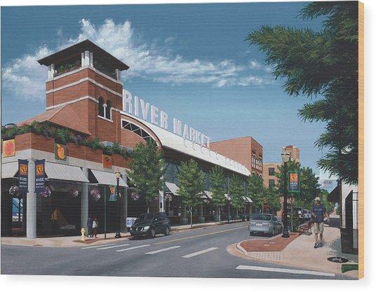 Little Rock River Market Wood Print