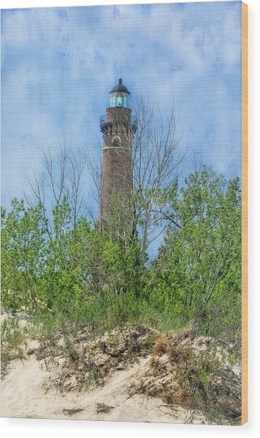 Little Sable Lighthouse Wood Print