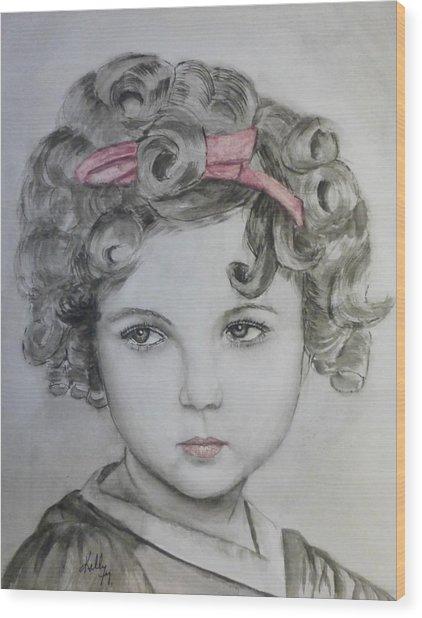 Little Shirley Temple Wood Print