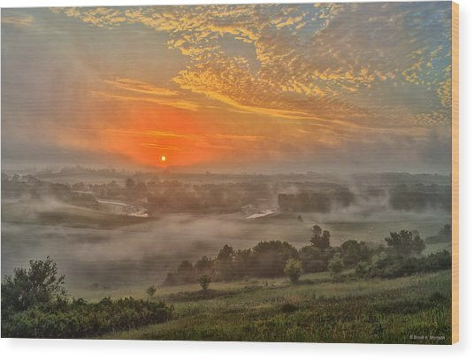 Little Sioux River Valley Sunrise Wood Print