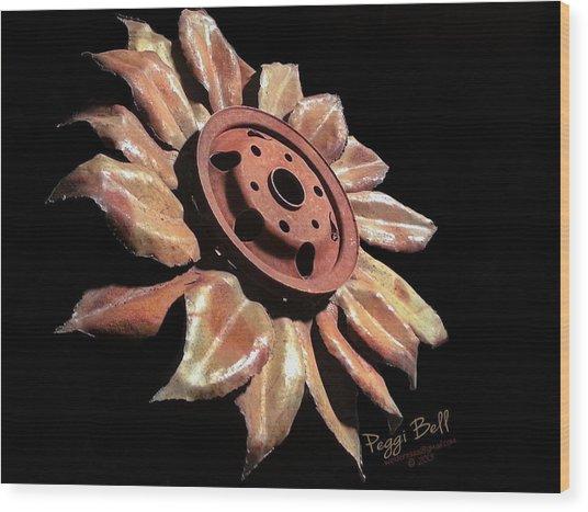Little Sunflower Wood Print
