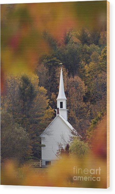 Little White Church - D007297 Wood Print