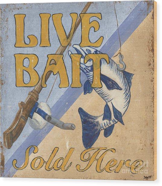 Live Bait Wood Print