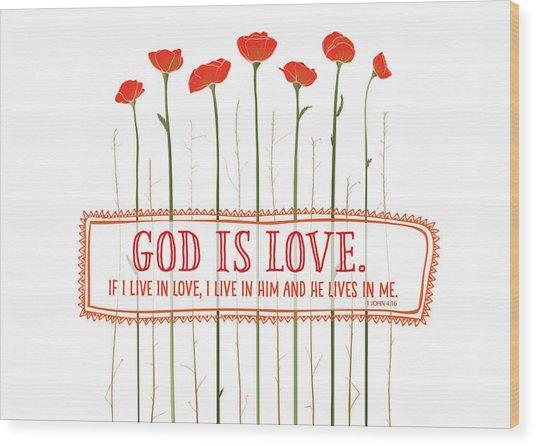 Live In Love Wood Print