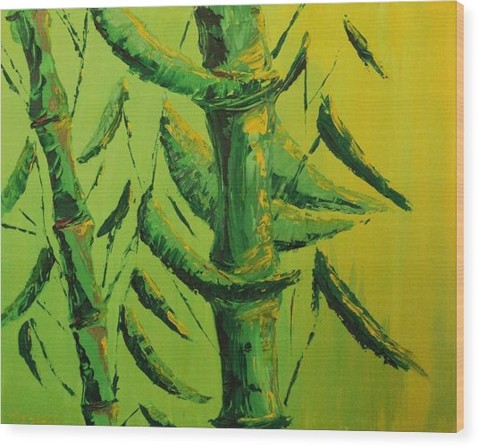 Lively Lime Bamboo Wood Print